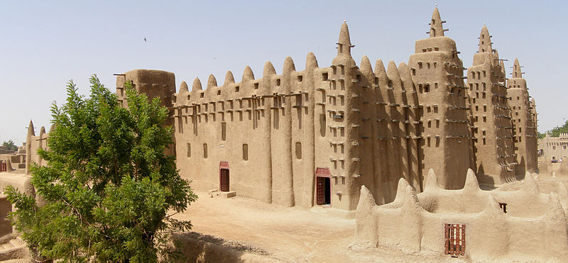 Mali - Mopti - Djenne - Great Mosque - Panorama