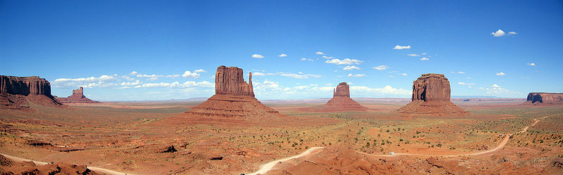 USA Utah Monument Valley Panorama WM Moritz Zimmermann